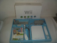 Nintendo Wii White Console System Complete In Box Wii Sports Game Set RVL-001