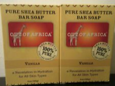 Lot of 2 Out of Africa Two Pure Shea Butter Bar Soap Vanilla Each is 4 oz
