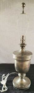 Visual Comfort by EF Chapman Urn Style Tall Sheffield Nickel Table Lamp-NO Shade