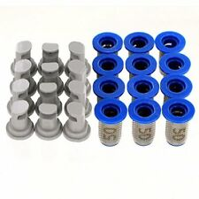 12 Pack - Hypro 30DT3.0 DeflecTip Spray Nozzles w/ TeeJet 8079-PP-50 Strainers