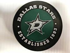 Dallas Stars Puck Men's Ice Hockey Established Logo Black NHL