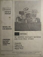 Sears Craftsman 536.963630 Riding Lawn Garden Tractor Owner & Parts Manual AMF