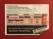 Fußball Eintrittskarte Ticket Bayern München - Hamburger SV 1983/84 ( 60197