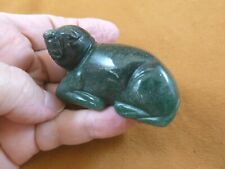 (Y-Seal-714) green Aventurine Seal gemstone carving Figurine gem seals sea lion
