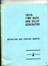 Hewlett Packard 1821A Time Base and Delay Generator Operating Manual