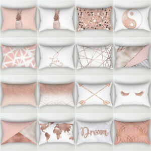 1PC 30x50cm Cushion Covers Rose Gold Pink Back Cushion Covers Decor Pillow Cover