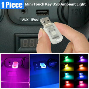 1X Mini Colorful Lamp Bulbs LED USB Car Interior Neon Atmosphere Ambient Light