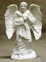 Ceramic Bisque Angel Man with Lamb Provincial Mold 1061 U-Paint Ready To Paint