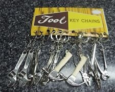 Mini Tool Key Chains Lot Hammer, Crescent Wrench, Pliers Metal Unused 12 Total