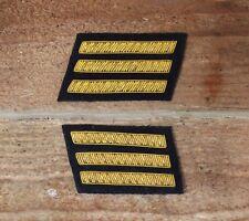 Confederate Officers CSA CS Rebel Collar Bars - Staff Black Captain
