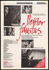 DOKTOR FAUSTUS__Original 1984 Trade print AD/ poster__JON FINCH_Adrian Leverkuhn