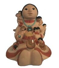 Native American Storyteller Mother w 12 Babies Very Heavy Hand Painted Teissedre