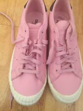 addidas ladies Classic Pink Leather Casual Shoes/Trainers size 5 Brand New