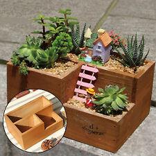 1xWooden Flower Bed Garden Window Box Planter Trough Succulent Plant Pot CQ2078