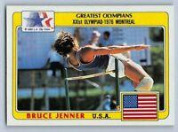 """1983  BRUCE """"CAITLYN"""" JENNER - Topps GREATEST OLYMPIANS Card # 50 - DECATHLON"""