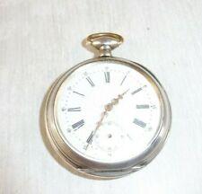 Ancienne montre gousset, en argent massif, 10 rubis, Cortébert
