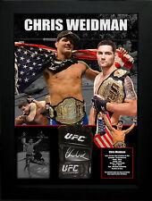 Chris Weidman Ufc Signed Framed Glove Jsa James Spence Authenticated #M89010