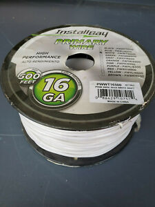 500ft Metra 16 Gauge Primary Wire All Copper Harness White High Pref PWWT16500