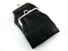 Black Leather Purse Cigarette Pack Holder Pouch Case With Coin Purse