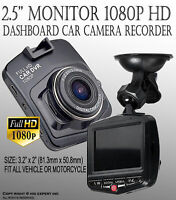 HD 1080P Vehicle DVR Dash Cam Video Recorder Kit Night Vision RearView Camera