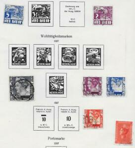7 Dutch Indies Stamps from Quality Old Antique Album