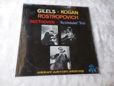 Gilels Kogan Rostropovich Beethoven Archduke Trio Record Album Vinyl VG++