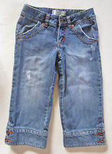 Capri Jeans by Old Navy with Fur Cuff Girls Size 7, 100% cotton