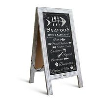 """Rustic Whitewash Magnetic A-Frame Chalkboard Sign / Extra Large 40"""" x 20"""""""