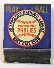 1941 PHILADELPHIA PHILLIES Baseball Schedule FULL Matchbook
