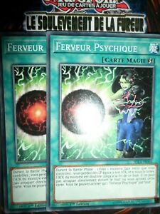 YU-GI-OH! PLAYSET (LOT DE 2) FERVEUR PSYCHIQUE RIRA-FR064 NEUF EDITION 1