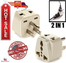 Grounded Universal 2 in 1 Plug Adapter Type B for USA Japan & More High Quality
