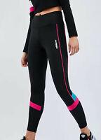 WOMENS ADIDAS ORIGINALS TECH BLACK LEGGINGS RETRO 90'S STYLE UK 10 RARE LAST ONE