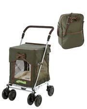 Sholley Trolley Petmobil Large in Country Carriage Green with Matching Bag