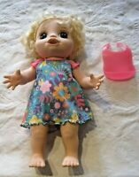 Baby Alive Happy Hungry Interactive Doll Blonde Hair Blue Eyes