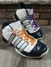 ADIDAS Pro Model Torsion System White Basketball Shoes Patent Leather Mens 8.5