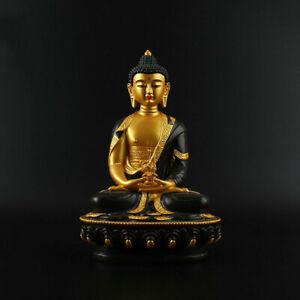 China Tibetan Buddhism Resin Painting Shakyamuni Amitabha Buddha Statue 阿弥陀佛