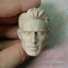 1/6 scale Captain America Head Chris Evans head sculpt unpainted