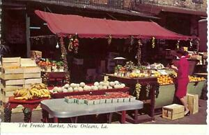 New Orleans Louisiana 1960's French Market Postcard
