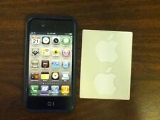 Black Polycarbonate & Rubber Edge Case for Verizon, Sprint and AT&T iPhone 4/4S