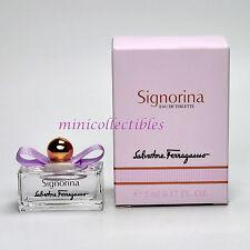 FERRAGAMO SIGNORINA EDT 5 ml Miniature Collectible Mini Perfume Bottle NIB