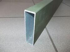 1m Alubrett ALU Rechteckrohr Profil Vierkantrohr 100x25mm Aluminium