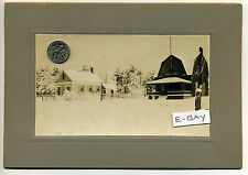 Hamilton MA Mass snow covered homes antique photo Woodbury? Miles River?