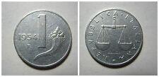 Repubblica Italiana 1 Lira Cornucopia 1954 qspl