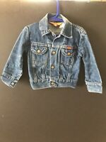 Vintage Rustler Denim Jacket Toddler Jean Coat Made in USA Tough Guy Trucker M