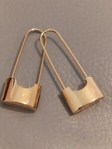 BRAND NEW   30 MM LONG  PADLOCK PIN DESIGN EARRINGS CARTLIDGE