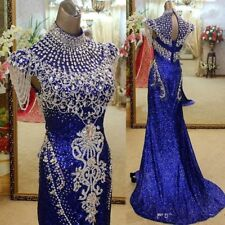 Gorgeous Formal Pageant beading Prom Dress Crystal Party Evening Wedding Gown