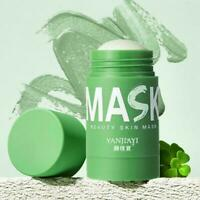 Green Tea Purifying Clay Stick Mask Oils Controls Anti-Acne Fine Solids Z4I4