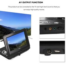 "Portable 13.9"" LCD Lecteur DVD HD TV USB Rechargeable 3D Radio FM AV Stéréo"