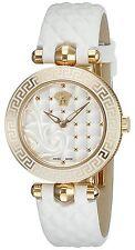 Versace Women's VQM020015 Vanitas Micro Gold IP White Leather watch