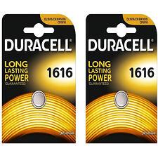 Set of 2 DURACELL 1616 3V DL1616/CR/BR1616/CR1616 Alkaline Button Cell Battery